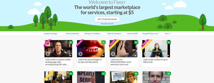 Get a job working as a virtual assistant at Fiverr