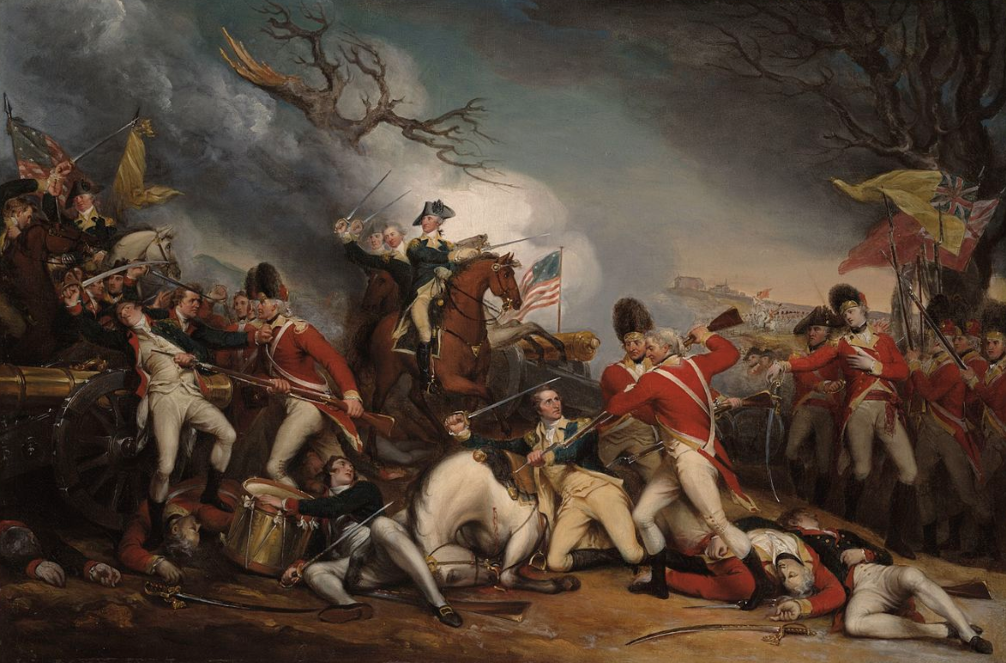 The Death of General Mercer at the Battle of Princeton Painting