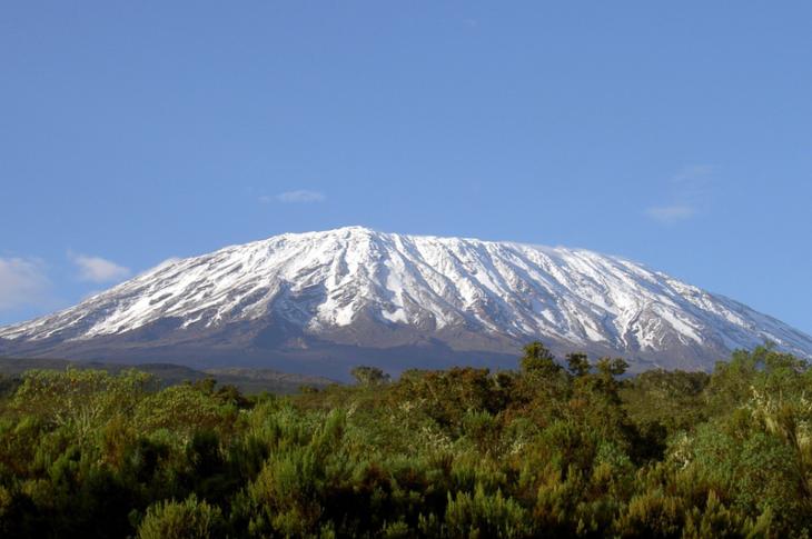 Mount Kilimanjaro Melting Ice Top