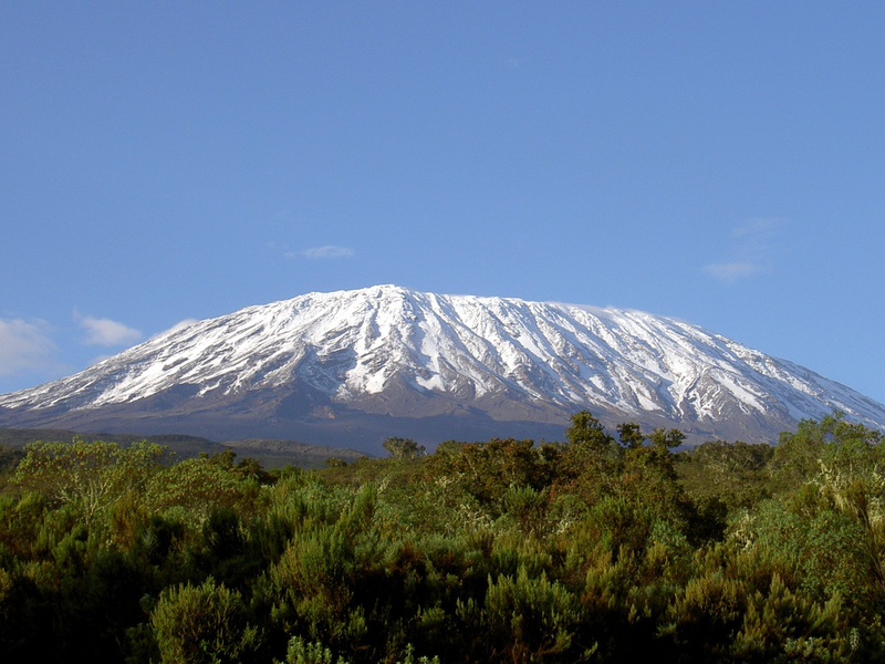 Mount Kilimanjaro Melting Ice Top